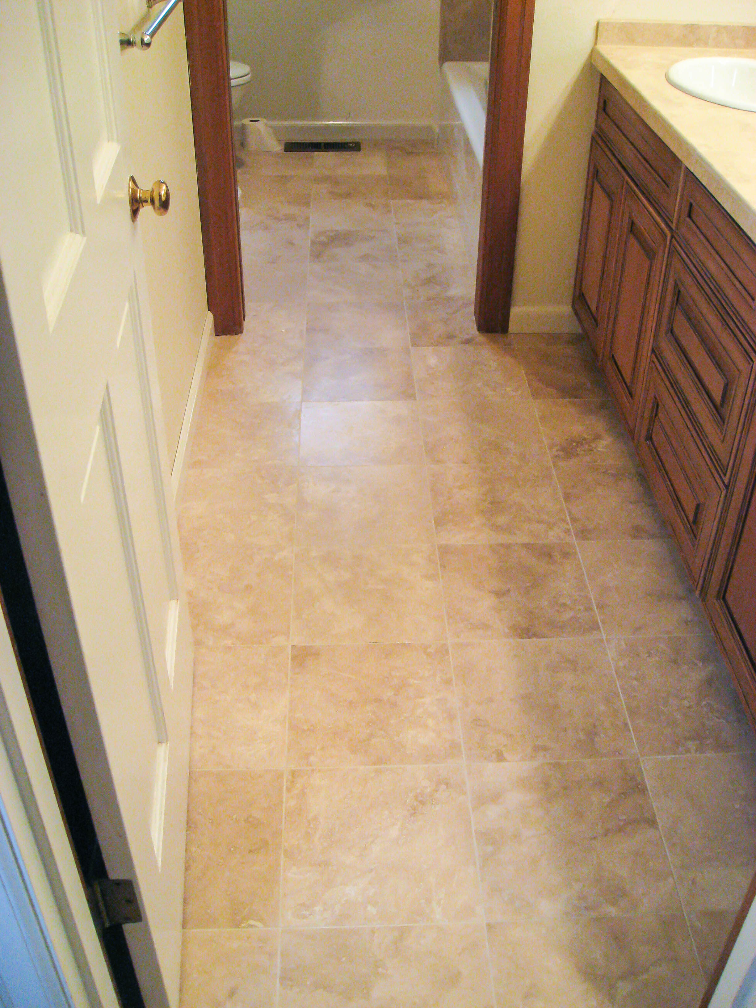 Master Bathroom Floor Tile Ideas Travertine Wood Floors